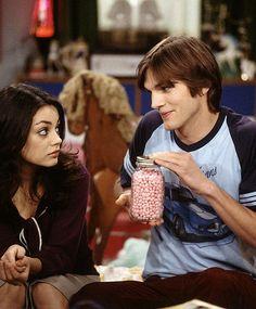 Mila Kunis and Ashton Kutcher's onscreen love — too cute.