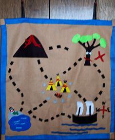 Felt Treasure Map DIY Neverland inspired play mat for kids