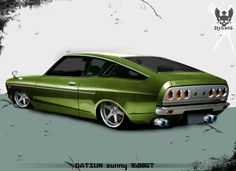 the real car: tks and comment Datsun Car, Car Illustration, Illustrations, Japanese Cars, Toyota Corolla, Toys For Boys, Old Cars, Exotic Cars, Custom Cars