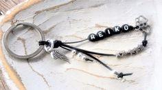 Schlüsselanhänger für Pfotenliebhaber mit 1 Namen, Leder *Hund  *Geschenk (H2)