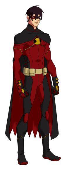 Red Robin YJ Design by ~Bobkitty23 on deviantART