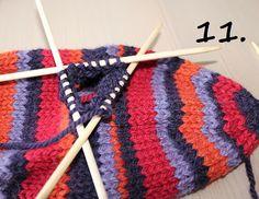Hjerte GO`H Design: Hvordan strikke tommel på vott; en step by step forklaring H Design, Knitted Hats, Knit Crochet, Knitting Patterns, Tips, Fashion, Moda, Knit Patterns, Fashion Styles