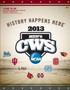 2013 College World Series Program.