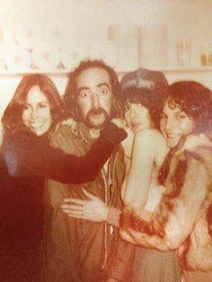 John McVie, 'overwhelmed' by a band of females ~ Sara Fleetwood, Stevie ~ ☆♥❤♥☆ ~ and Stevie's then-hairdresser