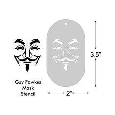 Stencil Guy Fawkes Mask Anonymous 3.5x2 by UnderdogPress on Etsy