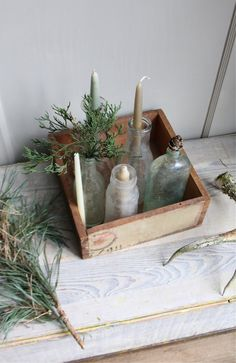 Vintage Painted Shipping Box by ethanollie on Etsy