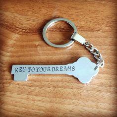 Key yo your dreams key ring... on Etsy, £9.95