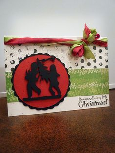 christmas card using A Child's Year cricut cartridge
