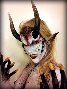 SFX Makeup demon demonic sci fi special effects horns prosthetics