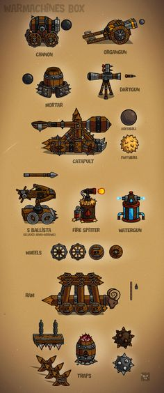 Warmachines - medieval siege weapons - #eatcreatures.com #danielferencak
