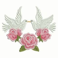 Valentine Doves 09 machine embroidery designs