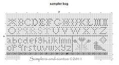 Samplers and Santas: Sampler bag freebie