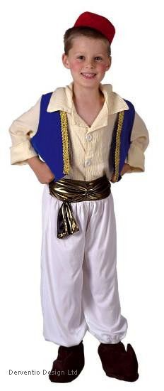 BOYS KIDS ALADDIN PERSIA PRINCE MEDIEVAL FANCY DRESS COSTUME OUTFIT 4-6-8-10 NEW #Unbranded #CompleteOutfit