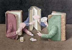 Another reason to love books.  Book Art by Jonathan Wolstenholme