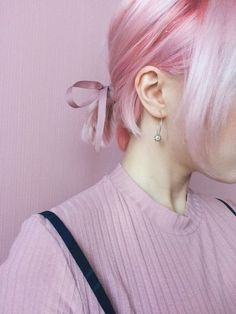 pastel pink hairstyle | cotton candy | ombre | highlights | rose pink | rose gold | short hair