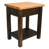 Found it at Wayfair - Moro Prep Table with Butcher Block Top