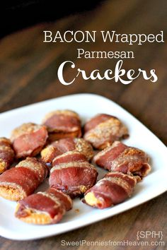 Talk about addictive! These bacon wrapped parmesan crackers are insanely delicious and addictive! Buttery crackers wrapped in parmesan and bacon, baked to perfect crispness. These are a family favorite, for sure!