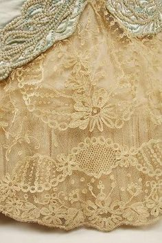 ~Dress, Evening, hem detail.  House of Worth, 1890s. by tiffany