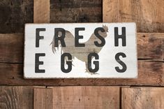 Fresh Eggs Sign | Fa