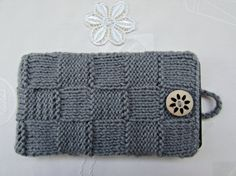 Smartphone Case Gray Knitted iPhone Case Knit by MyRainbowColors