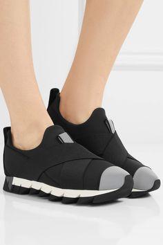 Dolce & Gabbana - Ibiza Neoprene Slip-on Sneakers - Black - IT40.5