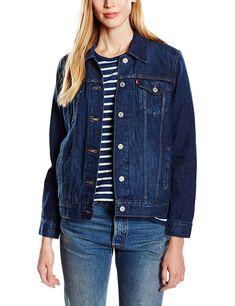 Original Levi s Damen Jeansjacke im Trucker Look. Besonders in dem dunklem  Blau ist die Jacke ein echter Hingucker. Bestell die kurze Jeansjacke jetzt  in ... 28ddd20471