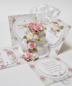 Fan sierpnia - Fan of August 3d Cards, Pop Up Cards, Cute Cards, Diy Gift Box, Diy Box, Card Box Wedding, Wedding Gifts, Cake Boxes Packaging, Birthday Explosion Box