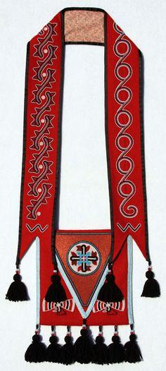 Martha Berry: Cherokee Beadwork Artist. Honoring the Warriors - Beaded Bandolier Bag by Martha Berry