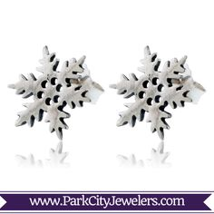Sterling Silver Post Snowflake Earrings Snowflake Jewelry, Handmade Items, Handmade Gifts, Types Of Metal, Snowflakes, Whimsical, Pendants, Sterling Silver, Unique Jewelry