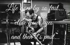 Mike Ness from Social Distortion quote.  Life,  truth,  true story, Rock quotes.  Black and white,  photography,  music