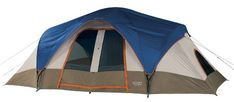 Wenzel Great Basin 18 X Nine-Person Two-Room Family Dome Tent (Light Grey/Blue/Taupe) - - One of our largest, spacious tents if your looking for extra room. The Great Bas Camping Needs, Best Tents For Camping, Cool Tents, Tent Camping, Camping Gear, Outdoor Camping, Outdoor Gear, Camping Outdoors, Outdoor Travel