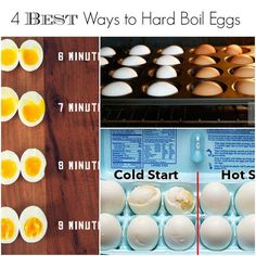 The best 4 ways to get perfect hard boiled eggs every time! Perfect for Easter and egg recipes coming up.