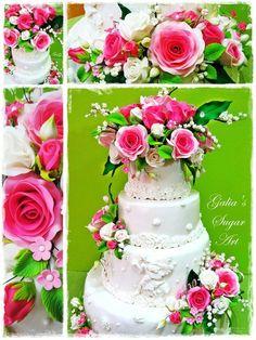 Cake pink romance - Cake by Galia Hristova – Art Studio - CakesDecor