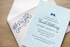 Oh So Beautiful Paper: Lauren's Ikat Baby Shower Invitations
