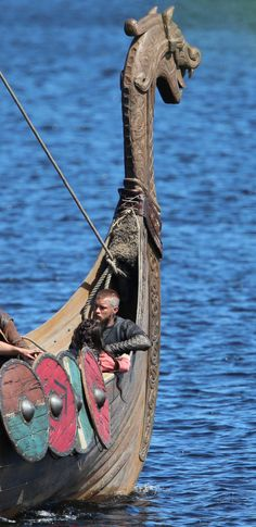 Travis Fimmel as Ragnar Lothbrok during filming of Vikings Season 3 on Blessington Lake in Ireland.