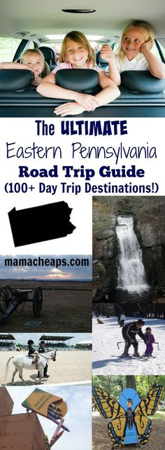 This is The ULTIMATE Eastern Pennsylvania Road Trip Guide Day Trip Destinations)! Browse and save your favorites for fun family day trips! Day Trips In Pa, Weekend Trips, Summer Travel, Travel With Kids, Family Travel, Summer Bucket, Winter Travel, Places To Travel, Places To Go