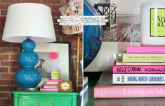 How to Style a Nightstand // Styling Tip: If you don't want to hammer holes in the wall, leaning art is perfectly acceptable and just as effective.