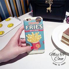 Leckere Lebensmittel Pommes,Hot Dog,Kuchen, Ice Gream plastik Handyhülle für Iphone6/6S/6plus