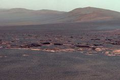 Mars vision from probe Opportunity
