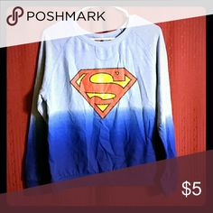 Super man sweater Jr sz 2x in excellent condition fits a little small Tops Sweatshirts & Hoodies