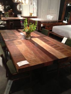 Large Wood Dining Table By Four Hands Furniture KeyHomeFurnishings