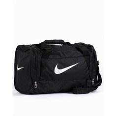 Nike Brasilia 6 Duffel Small ($47) ❤ liked on Polyvore featuring bags, luggage, accessories, sport, training, accessories sport, black, sports fashion and womens-fashion