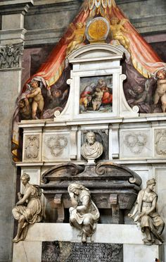 Michelangelo's own tomb, at Basilica di Santa Croce di Firenze, Florence