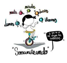 Titiritiriiiiiii… seeeemaniteandooooo! … y a ver si no se me cae ninguna de las pelotitassssss… ¡Cooomenzamosssss! Eeeeeeegunon Mundo!! Motivational Phrases, Inspirational Quotes, Girl Quotes, Me Quotes, Artist Quotes, Beyond Words, Self Motivation, Spanish Quotes, Emoticon