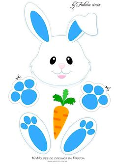 Easter Templates, Bunny Templates, Easter Printables, Easter Crafts For Kids, Toddler Crafts, Diy For Kids, Easter Activities, Spring Activities, Easter Drawings