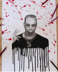 """ZArt®🏆 (@zaddymauricebreezy) on Instagram: """"I 😻 This Lit Drawing It Goes so Hard 😍🎨🔥 @chrisbrownofficial - 📷🎨: @hen.maman #ChrisBrown…"""" Chris Brown Art, Chris Brown Outfits, Chirs Brown, Cuffing Season, Season 12, Angels And Demons, 12 Days Of Christmas, Light Art, Breeze"""