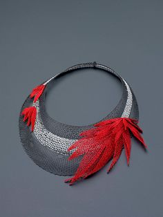 Necklace | Designer unknown.  Bobbin Necklace.  Idrija.  2007