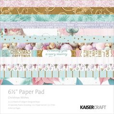 """Kaisercraft """"Christmas Wishes"""" 6.5"""" Paper Pad *NEW*"""