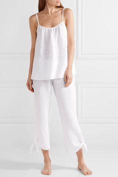 Eberjey | Paz cotton-gauze pajama pants | NET-A-PORTER.COM