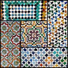 Alhambra tiles. #alhambra #granada #spain #color #tileaddiction #tilework #geometric by forensicsgirl